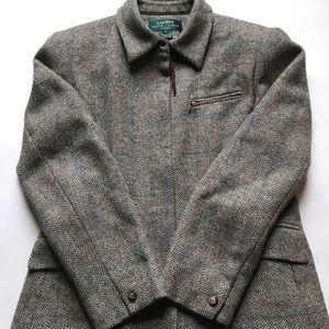 Ralph Lauren Petite 10P Shetland Wool Blazer Coat